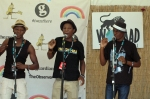 Mokoomba rehearsing backstage at Womad 2013