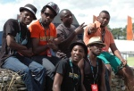 Mokoomba at the backstage of Womad 2013