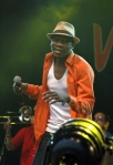 Mathias Muzaza from Mokoomba, performing at Womad 2013