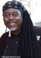 Courtney Pine, photographed by Elrond Garcia, at the Lost at Sea Festival, Isle of Wight