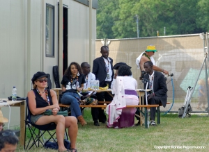 """""""The Good Ones"""" resting at the WOMAD 2014 Media Centre by Ronise Nepomuceno"""