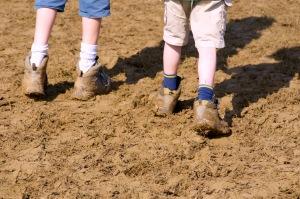 Muddy ground at WOMAD UK 2015