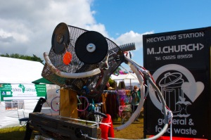 Recycling display at WOMAD UK 2015