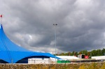 Backstage view of approaching storm at WOMAD UK 2015