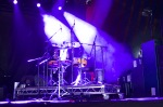 Stage prepared for Hossam Ramzy at WOMAD UK 2015