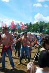 Revellers at Criolo's Gig at WOMAD UK 2015
