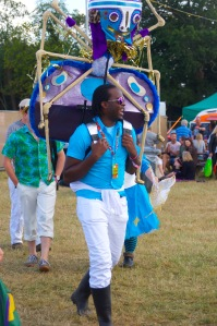 Backstage at WOMAD UK 2015