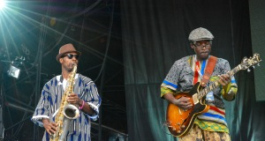 Cheikh Lô Band at WOMAD UK 2015, photo by Dylan Garcia