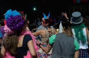 Revellers at Criolo's gig - WOMAD UK 2015