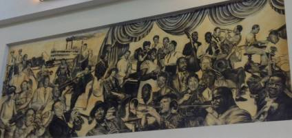 Display in Louis Armstrong Airport, New Orleans, by Ronise Nepomuceno