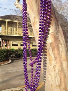 Mardi Grass beads in New Orleans