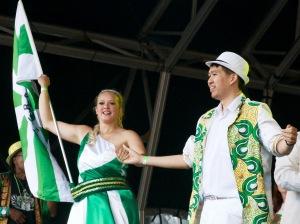 London School of Samba in Trafalgar Square for Brasil Day, by Ronise Nepomuceno