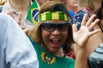 Public enjoying Brasil Day in Trafalgar Square, London, August 08 2015, by Ronise Nepomuceno
