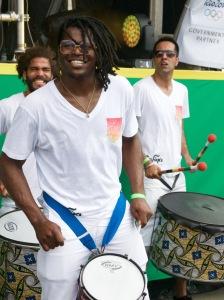Aloisio Menezes + Serafina, Bloco de Carnaval (Carnaval Bloc), in Trafalgar Square, London, August 08 2015 for Brasil Day, by Ronise Nepomuceno
