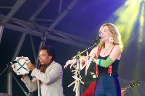 Nina Miranda and Peu Meurray in Trafalgar Square, London, August 08 2015, for Brasil Day, by Ronise Nepomuceno