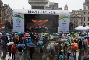 Stage at Brazil Day 2016 London, Trafalgar Swuare